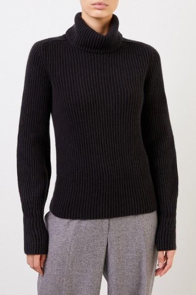 Iris von Arnim Cashmere-Pullover 'Seille' mit Rollkragen Schwarz