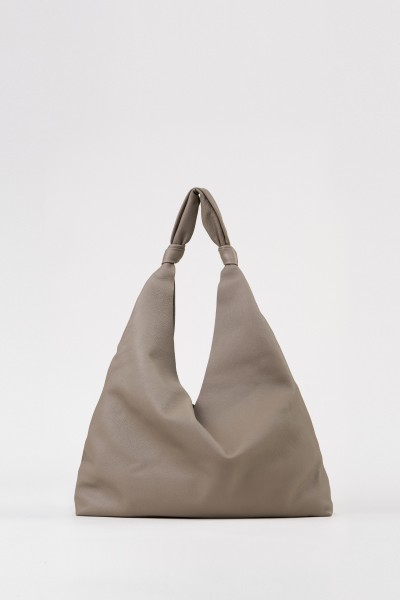 Ledershopper 'Bindle Two' Grau