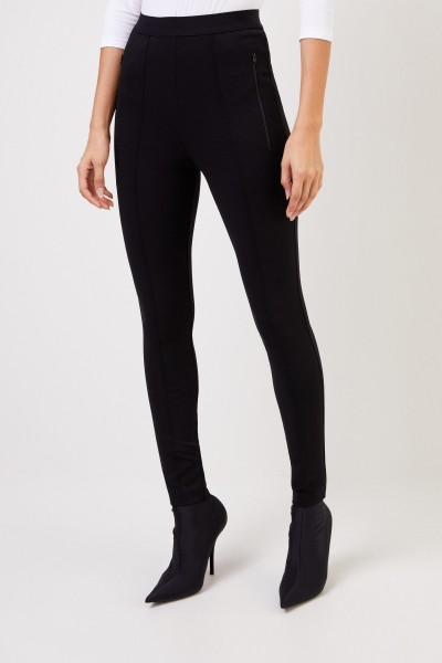 Balenciaga Elastische Hose mit Logo Schwarz
