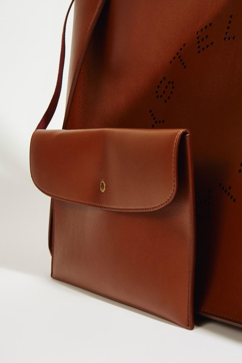 Handtasche 'Tote' mit Logo Braun