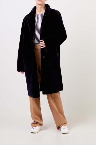 Joseph Reversible lambskin coat Navy Blue