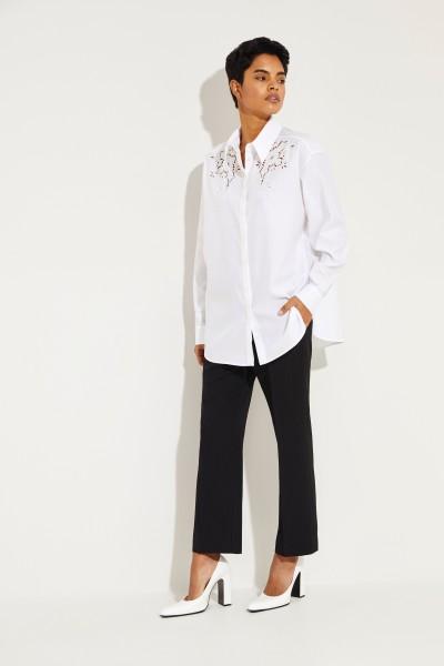 Stella McCartney Baumwoll-Bluse mit floraler Spitze Weiß
