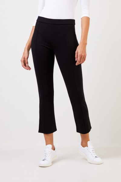 Tory Burch Pants with flared hems Black
