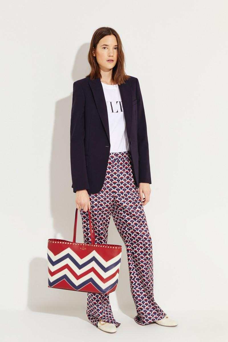 Shopper 'Rockstuds' mit Muster Rot/Multi