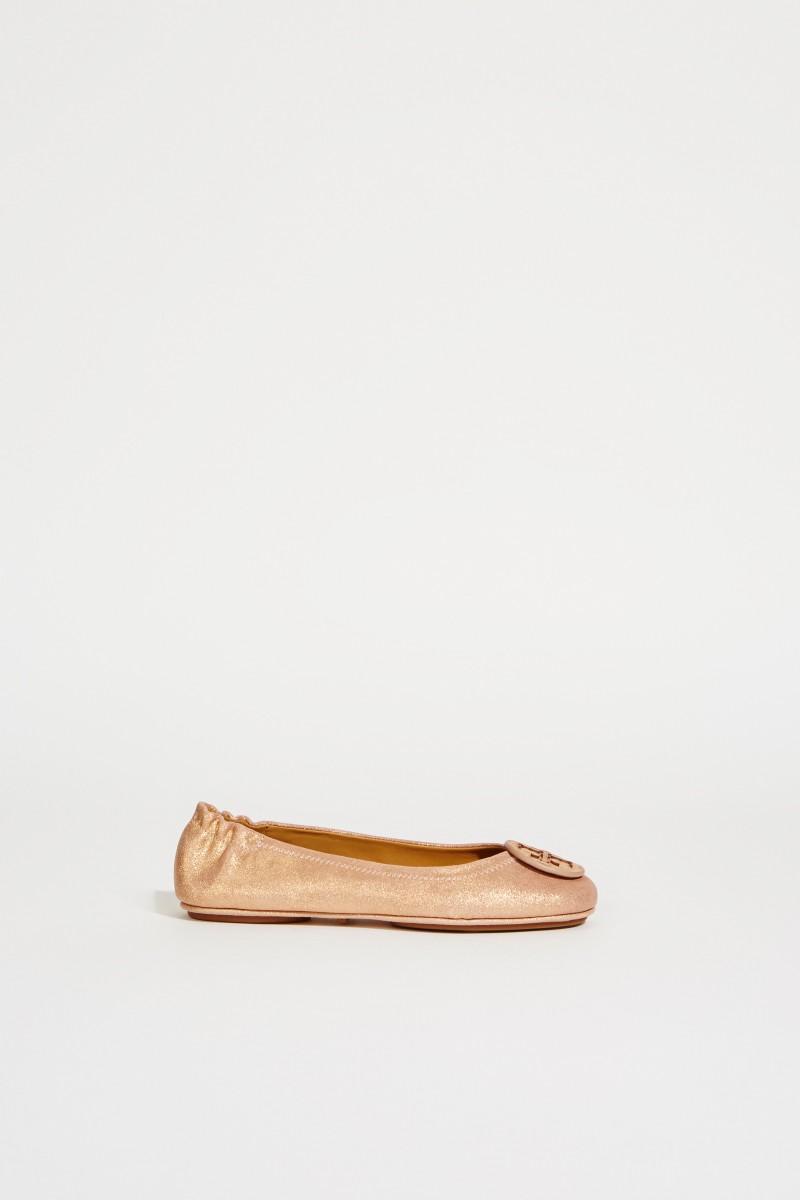 Leder-Ballerina 'Minnie Travel Ballet' Rosé