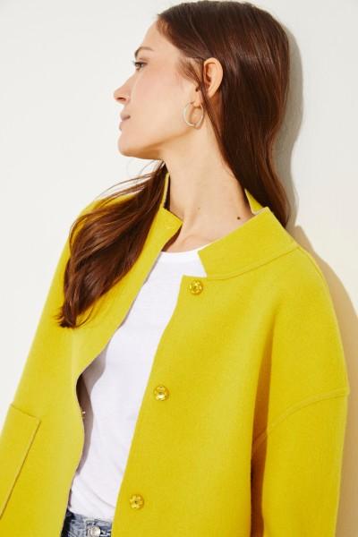 Doubleface Blazer Gelb/Grau