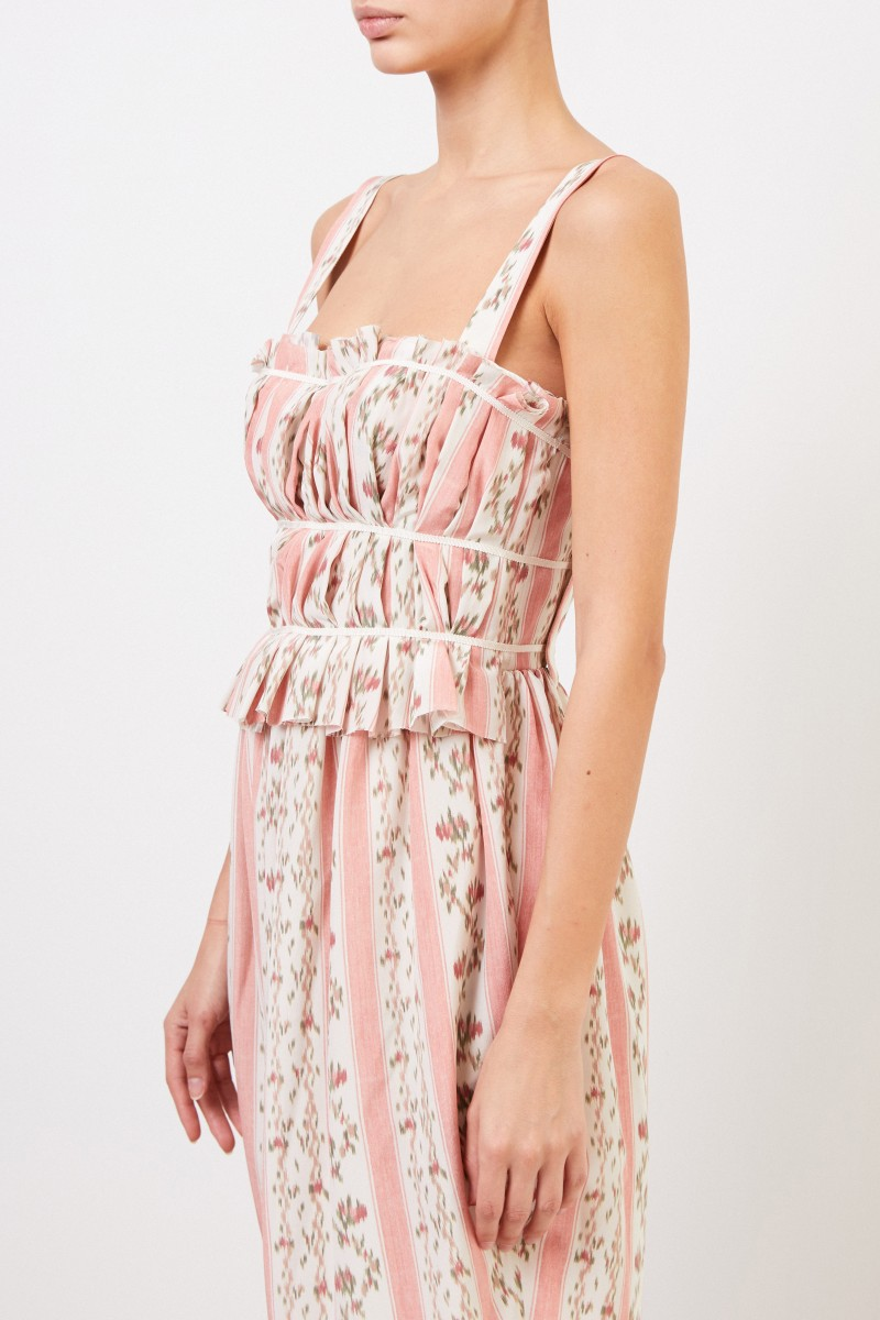 Brock Collection Seidenkleid mit Print Rosé/Multi