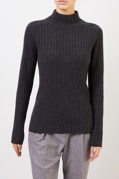 Iris von Arnim Rib knit cashmere pullover 'Ciela' Anthracite