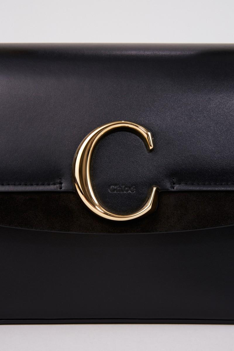 Tasche 'Chloé C Medium' Schwarz