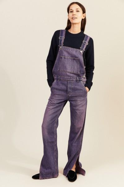 Jeans-Latzhose 'Dungaree' Violett