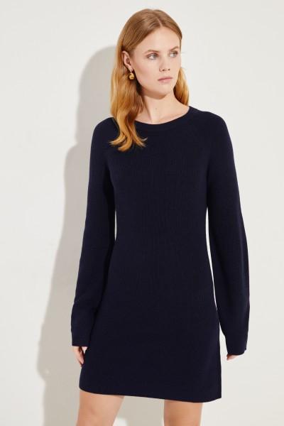 Seiden-Cashmere-Kleid Marineblau