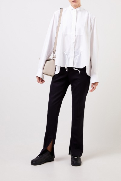 Sacai Bluse mit Kordel-Detail Weiß