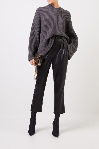 Leatherette-pants 'Mitsu' Black