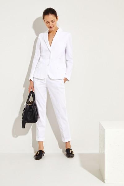 Baumwoll-Blazer Weiß