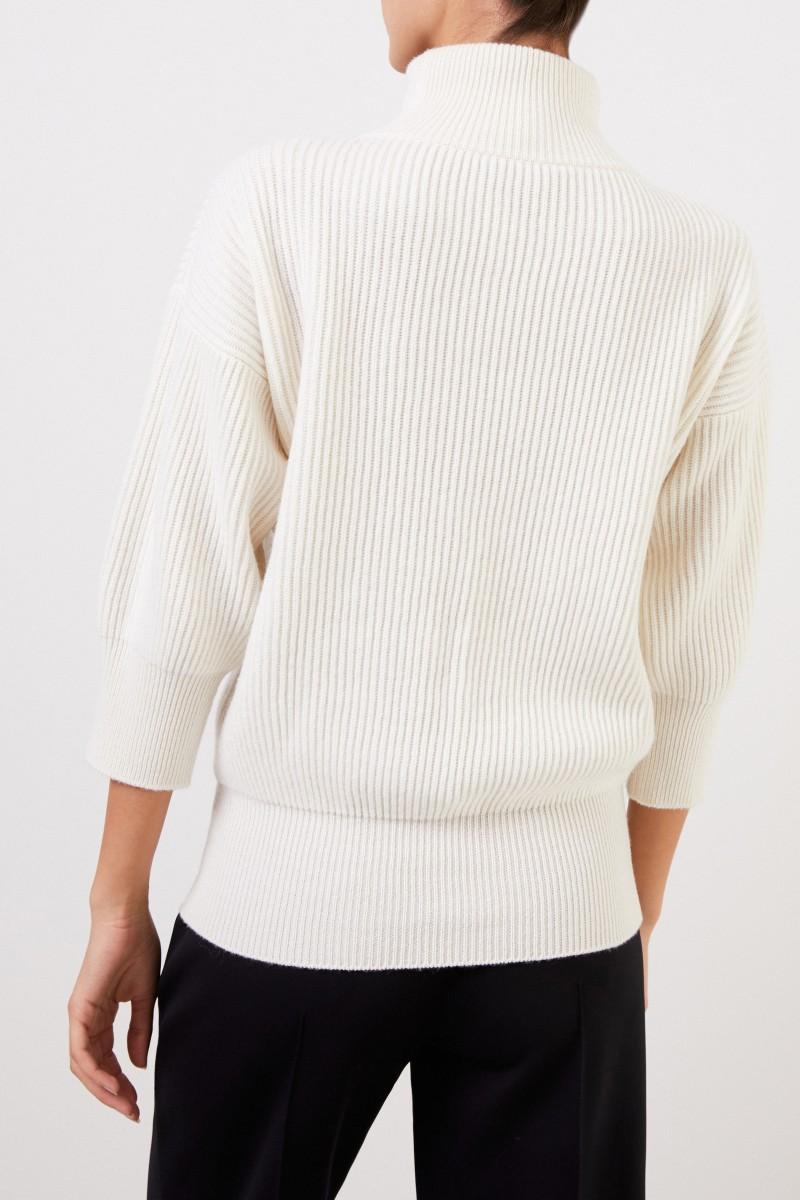 Agnona Cashmere-Pullover Crème
