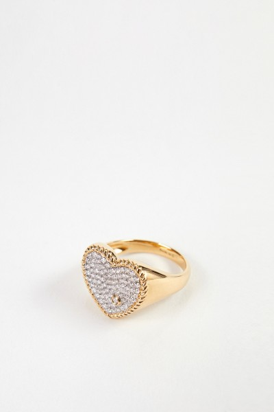 Yvonne Leon Ring 'Chevlier Coeur' with diamonds Gold