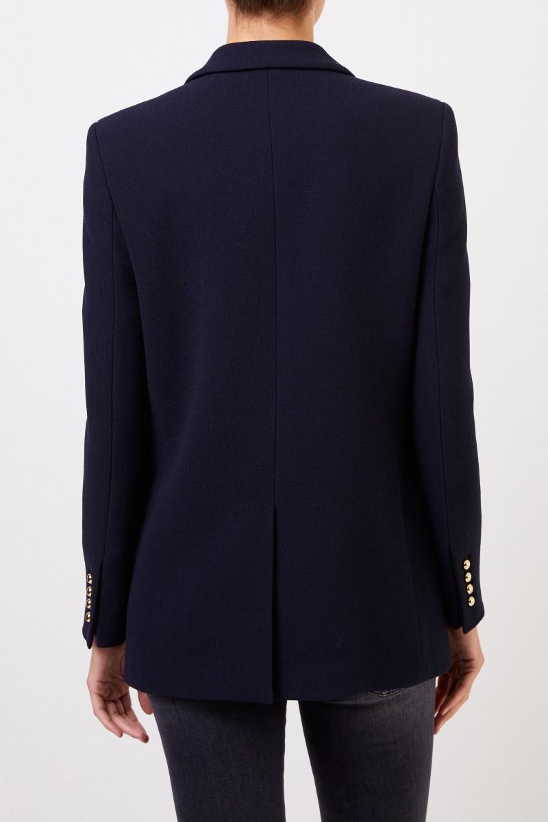 Blazé Milano Woll-Seiden-Blazer 'Essential Resolute' Marineblau