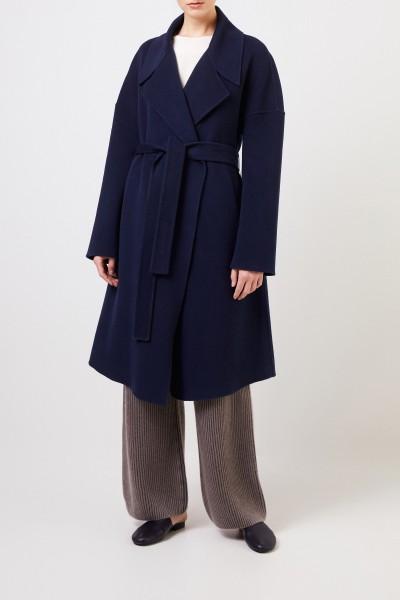 Cashmere coat 'Eirin' with belt Blue