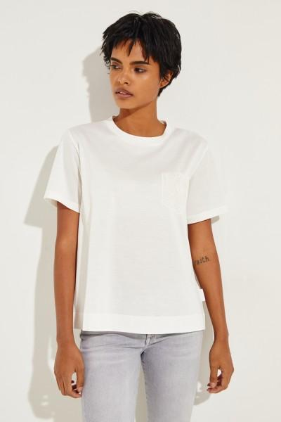 T-Shirt mit Spitzendetail Crème
