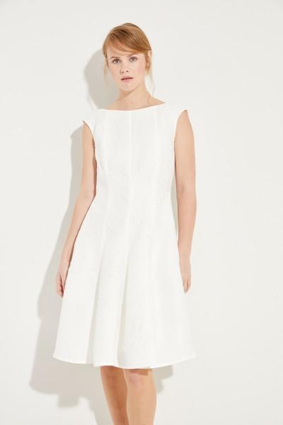 Kleid mit floralem Muster Weiß