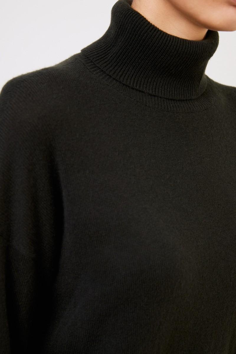 Iris von Arnim Cashmere-Pullover 'Cinja' mit Rollkragen Grün