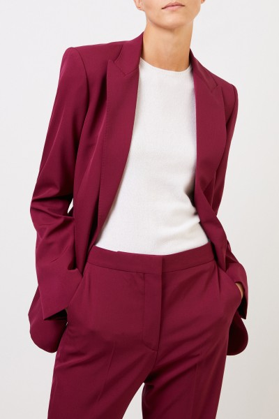 Stella McCartney Klassischer Long-Blazer Burgundy