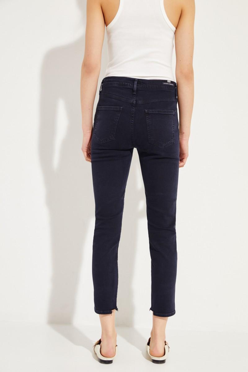 Jeans 'Rocket Crop' Marineblau