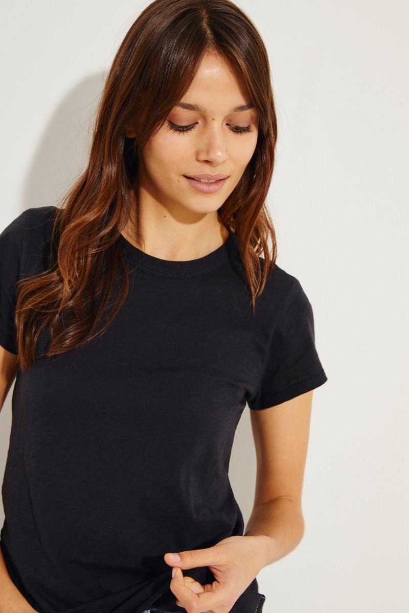 Schlichtes T-Shirt Schwarz
