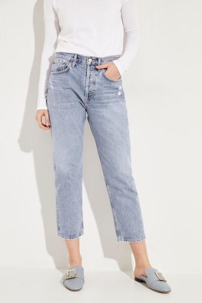 Jeans im Used-Look 'Parka' Blau