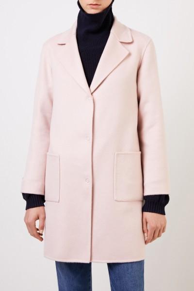 Manzoni 24 Classic cashmere coat Light Pink