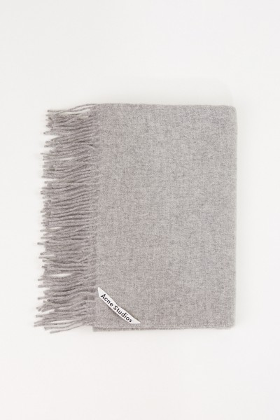 Acne Studios Classic wool scarf 'Canada New' Light Grey Mottled