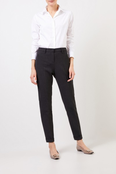 Trousers 'Leni' with hem cover Grey
