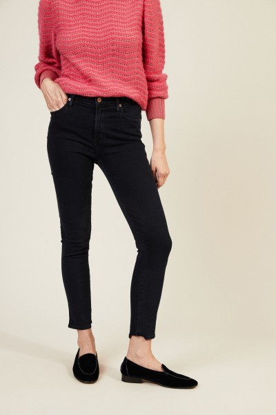 High Rise Skinny Jeans 'Rocket Cropped' Blau