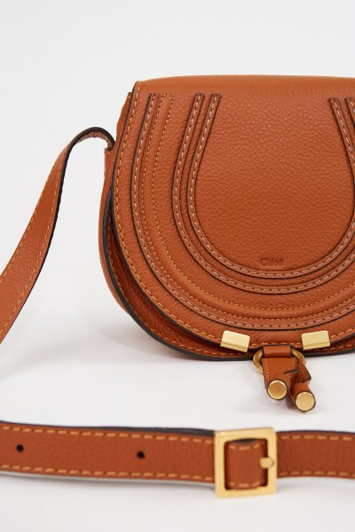 Chloé Shoulder Bag 'Marcie Saddle Small' Tan