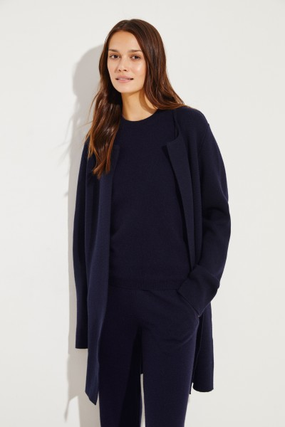 Classic knitted coat Navy Blue