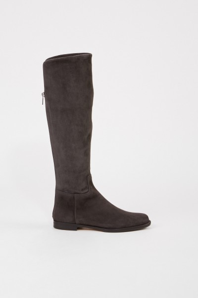 Unützer Suede leather boots Grey