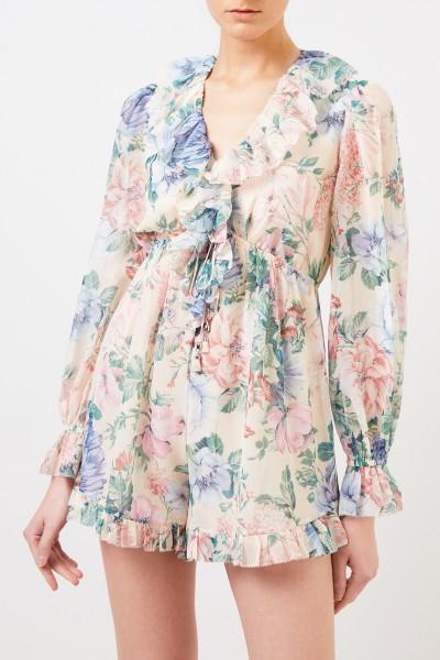 Zimmermann Cotton-silk-jumpsuit with print Multi
