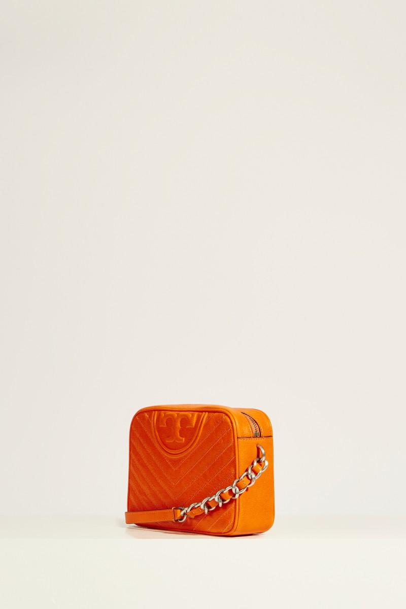 Leder-Umhängetasche 'Fleming Camera' Orange