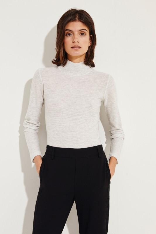 Woll-Cashmere-Pullover Grau