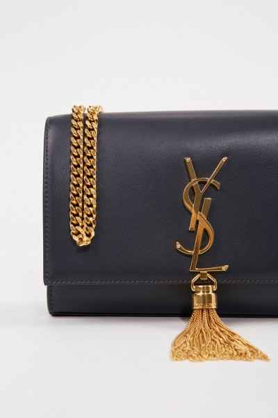 Saint Laurent Umhängetasche 'Kate' mit Quastendetail Anthrazit/Gold