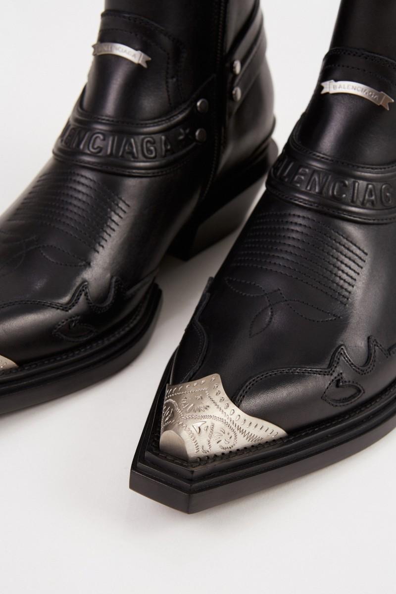 Cowboy-Stiefelette 'Santiago Bootie' Schwarz