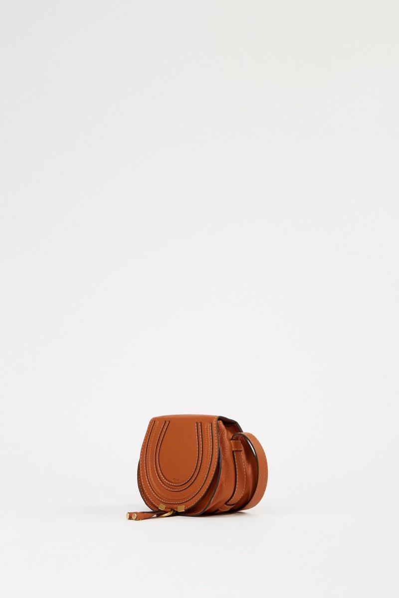 Chloé Umhängetasche 'Marcie Saddle Small' Tan