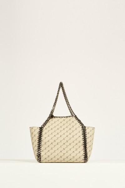 Reversible bag 'Falabella Reversible' with logo Beige/Black
