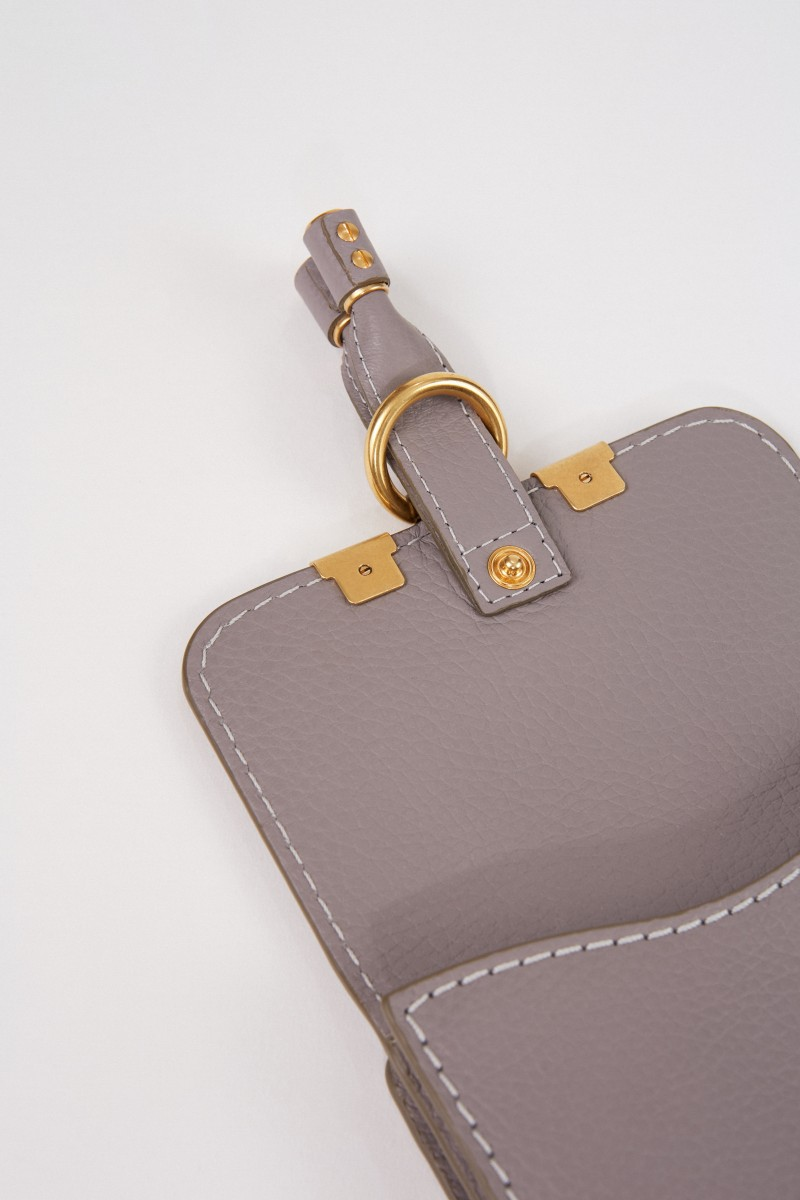 Chloé Leder-Portemonnaie 'Marcie' Cashmere Grey