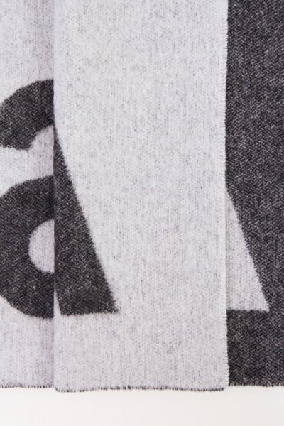 Acne Studios Woll-Schal 'Toronty Logo' Schwarz/Grau