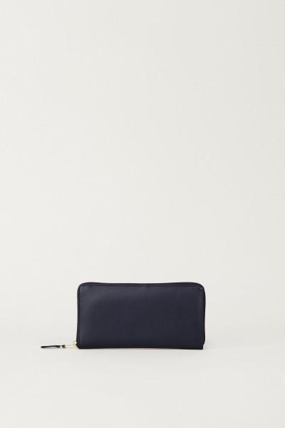Leder-Portemonnaie Blau