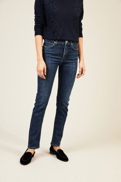 High Rise Slim 'Harlow' Blau