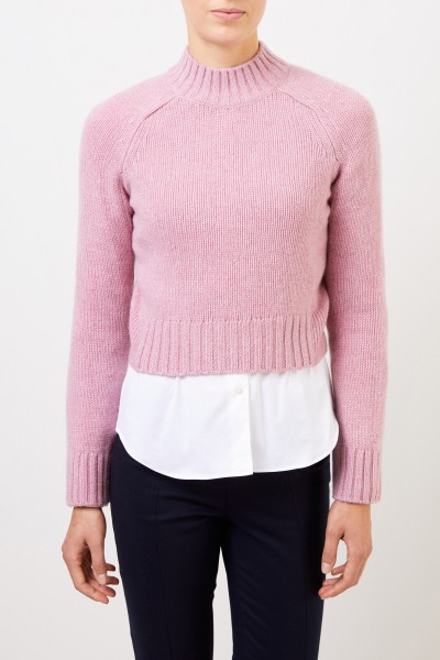 Vince Cropped-Pullover aus Cashmere Pink meliert