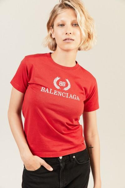 T-Shirt mit Logoprint Rot
