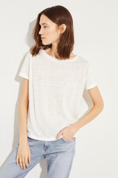 Leinen-Shirt 'Eldora' Weiß